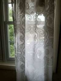 Two sheer white patterned curtain panels  Alexandria, 22304