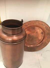 brass milkcan and serving tray Alexandria, 22206