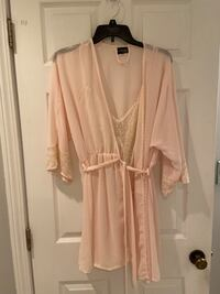 Peaches & cream nightie with robe