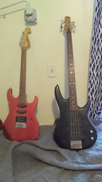 Ibanez gios bass and washburn 6 string Plainfield, 07062