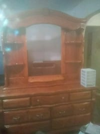 brown wooden dresser with mirror Port Arthur, 77640