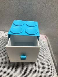 Blue and white plastic drawer Woodlands, 733893