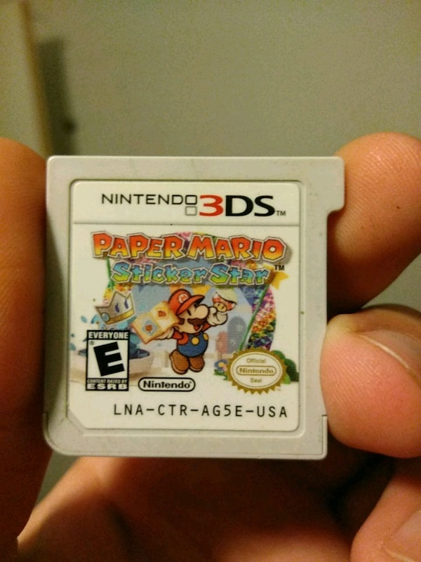 Super Paper Mario Sticker Star for the 3DS