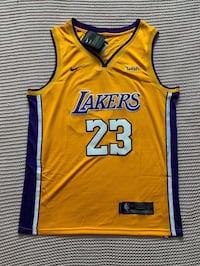 LeBron James Los Angeles Lakers New Men's Home Yellow NBA Jersey - Size L and XL Chicago, 60642