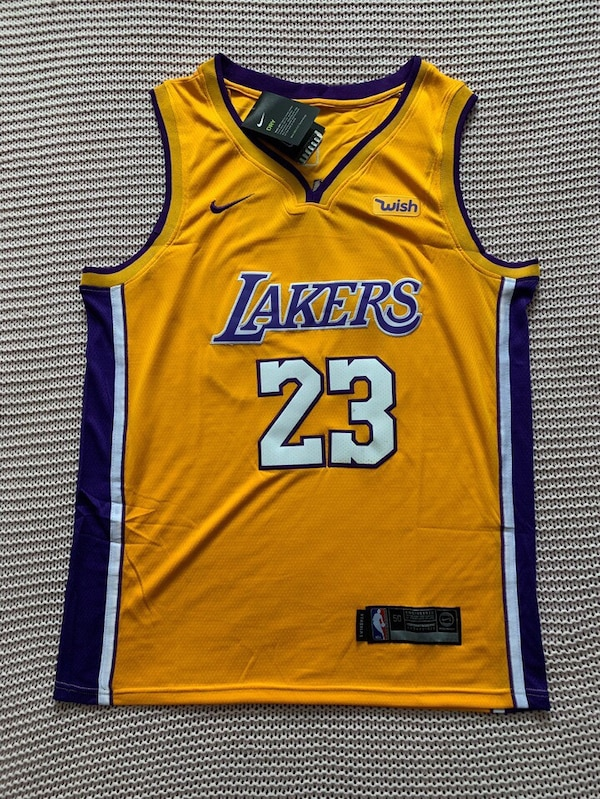 01486d95a7e LeBron James Los Angeles Lakers New Men s Home Yellow NBA Jersey - Size L  and XL