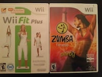 Two Nintendo Wii Fit Games - Wii Fit Plus / Zumba  Vaughan, L4L