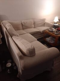 White Sectional (Cloth) Vancouver