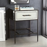 West elm mirrored night stand side table Alexandria, 22304