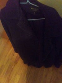 women's black wool coat size 14.  50$ Montreal, H1P 2W8