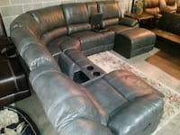 Gray Recliner Sectional w Chasie $40 Dn! Atlanta