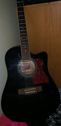 black and brown acoustic guitar Huber Heights, 45424