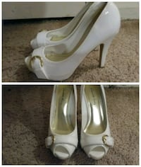 White Open Toed Heels Size 6 Virginia Beach, 23456