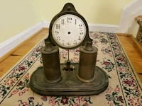 Early electric clock, hands missing Manassas, 20110
