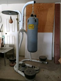Everlast Three-Station Heavy Duty Punching Bag Stand Henderson