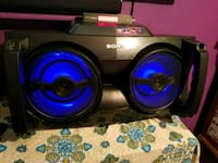 black and blue Sony Xplod subwoofer Toronto, M9M 1A8