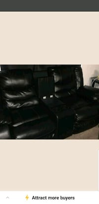 black leather home theater sofa Mobile, 36608