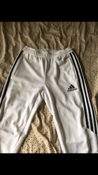 White and black adidas track pants North Fort Myers, 33903
