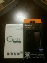 Black case and hard glass for Galaxy 9 Annandale, 22003