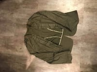 XL Khaki military style jacket stretchy denim material Winnipeg, R3G