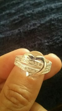Silver plated heart ring El Cajon