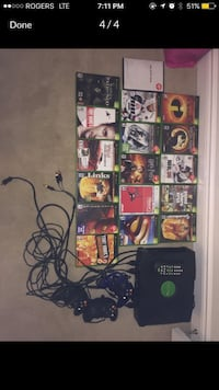 Xbox Original console, controller and game cases