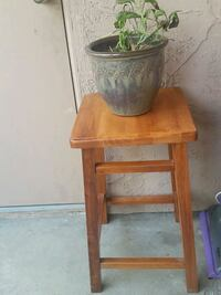 brown wooden framed glass top side table Chula Vista, 91910