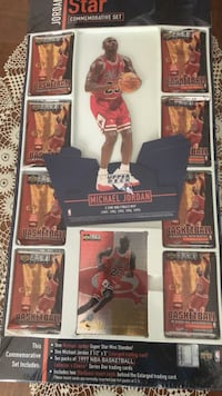 Michael Jordan commemorative  set upper deck basketball Aurora, 60504