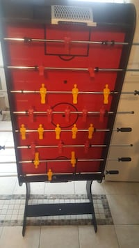 black and red table football