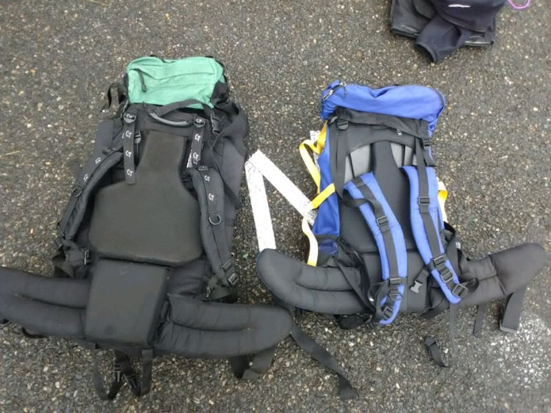 2 large hiking backpacks 45906756-118c-427e-a10c-94f6d4e8050b