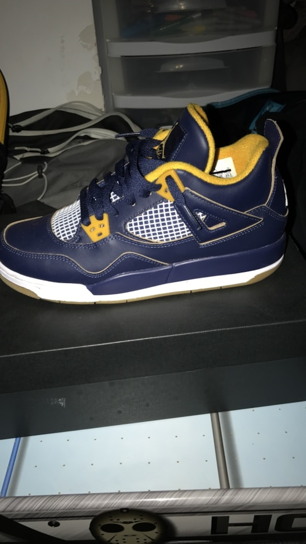 sneakers for cheap 8d75f 63159 blue, yellow and white air jordan retro 4