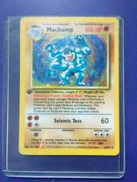 1st Edition Machamp Holo Card Schuylkill Haven, 17972