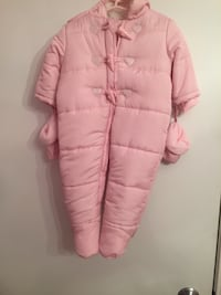 Pink baby snowsuit with gloves Toronto, M9R 0A3