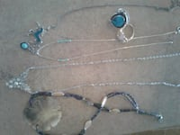 silver-colored and blue beaded necklace Amarillo, 79106