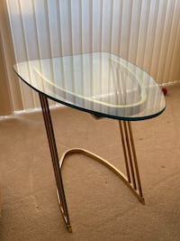 Accent Table with Brass Base and Glass Top Bethesda, 20816