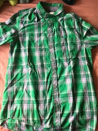 Green button up for kids