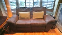 Brown suede recliner loveseat  Toronto, M6H 2X8