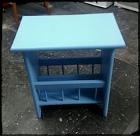 Blue Wooden Magazine Rack / Kids Magazine Rack