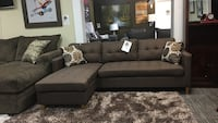 Fabric reversible sectional.