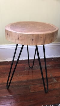 live wood mid century side table New York, 11375