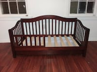 baby's brown wooden crib Dover