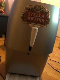 Stella Artois kegerator.  Washington, 20009