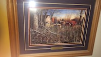 Brown wooden framed painting of brown house Albuquerque, 87109