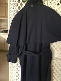 Navy trench coat, heavy winter removable lining detachable lapel l. Ladies size 14 Dolton, 60419