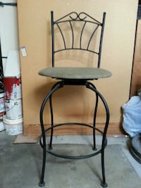 Three Wrought Iron Swivel Barstools  Vancouver, V5K 3C9