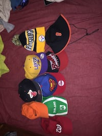 four assorted color fitted caps Montgomery Village, 20886