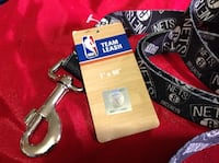 "NBA Brooklyn Nets DOG LEASH LARGE 1"" X 60"" , New with Tag."
