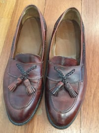 pair of brown leather boat shoes Gaithersburg