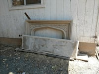 Stone fireplace mantel for construction