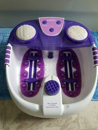 purple and white Conair foot spa massager Mississauga