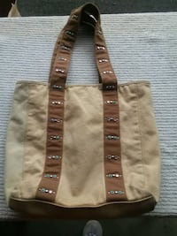 Cream and Brown Hand Bag